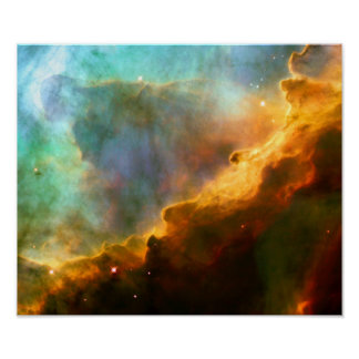 Nebulosa de Omega/del cisne (telescopio de Hubble) Póster