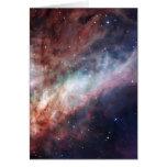 Nebulosa de Omega un flash de la luz Felicitacion