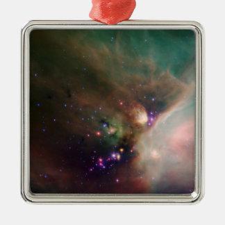 Nebulosa de Ophiuchi de rho Adorno Cuadrado Plateado