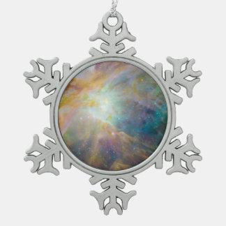 Nebulosa de Orión Adorno De Peltre En Forma De Copo De Nieve