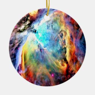 Nebulosa de Orión Adorno Navideño Redondo De Cerámica