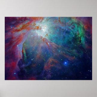 Nebulosa de Orión en espacio Póster