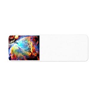 Nebulosa de Orión Etiqueta De Remite