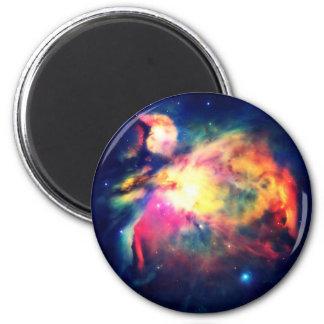 Nebulosa de Orión Hauntingly hermosa Imán Redondo 5 Cm