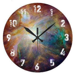 Nebulosa de Orión Reloj Redondo Grande
