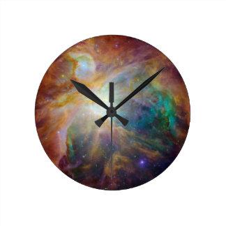 Nebulosa de Orión Reloj Redondo Mediano