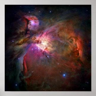 Nebulosa de Orión telescopio de Hubble Impresiones