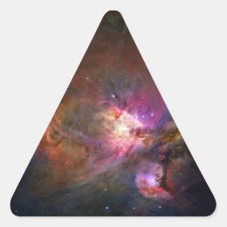 Nebulosa de Orión telescopio de Hubble Pegatinas De Triangulo Personalizadas