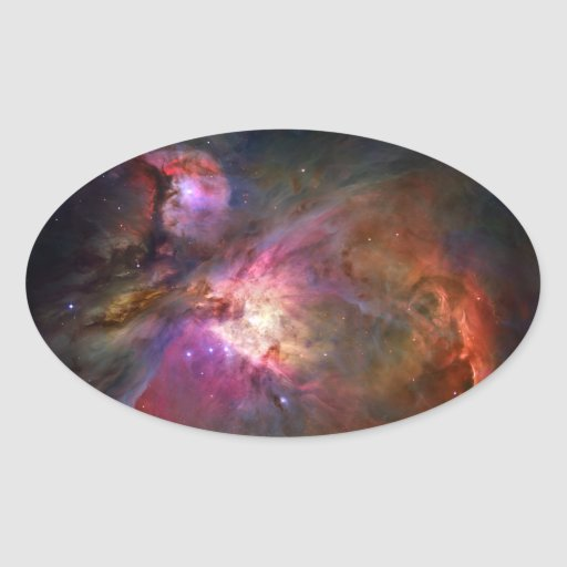 Nebulosa de Orión (telescopio de Hubble) Pegatina Ovalada