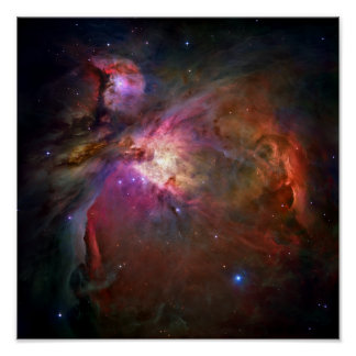 Nebulosa de Orión (telescopio de Hubble) Póster