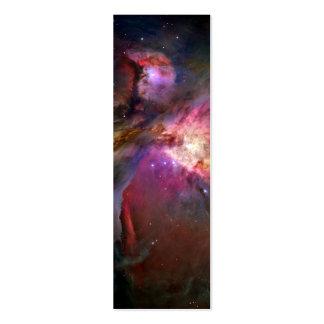 Nebulosa de Orión (telescopio de Hubble) Plantilla De Tarjeta De Negocio