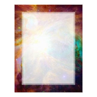 """Nebulosa de Orión (telescopios de Hubble y de Folleto 8.5"""" X 11"""""""