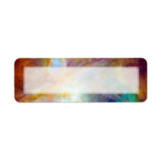 Nebulosa de Orión telescopios de Hubble y de Spit Etiquetas De Remite