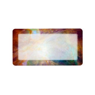 Nebulosa de Orión telescopios de Hubble y de Spit Etiquetas De Dirección