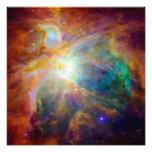 Nebulosa de Orión (telescopios de Hubble y de Spit Impresion Fotografica