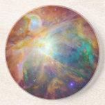 Nebulosa de Orión (telescopios de Hubble y de Spit Posavasos Cerveza