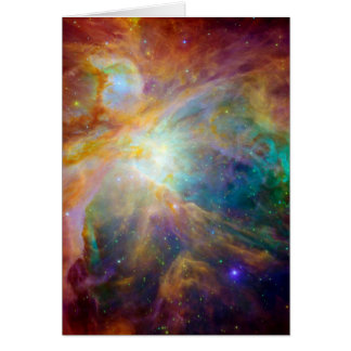 Nebulosa de Orión (telescopios de Hubble y de Tarjeta De Felicitación