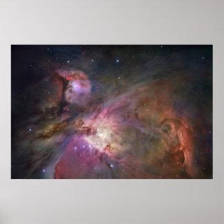 Nebulosa de par en par 1 de Orión Póster