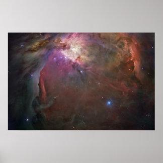 Nebulosa de par en par 2 de Orión Póster