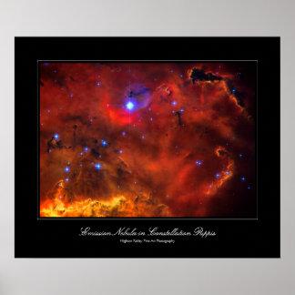 Nebulosa de Puppis de la constelación imagen del Impresiones