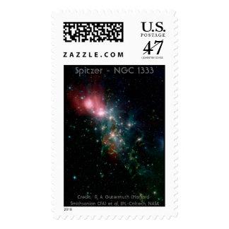 Nebulosa de reflexión timbre postal
