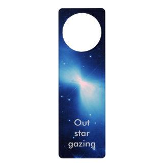 Nebulosa del bumerán colgante para puerta