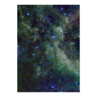 """Nebulosa del Cassiopeia dentro de la galaxia de la Invitación 5"""" X 7"""""""