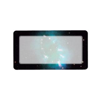 Nebulosa del collar telescopio de Hubble Etiquetas De Dirección