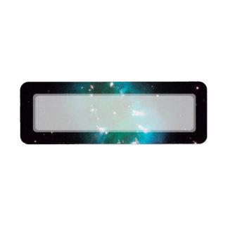 Nebulosa del collar telescopio de Hubble Etiqueta De Remite