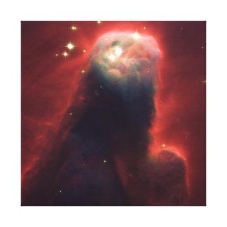 Nebulosa del cono impresion en lona