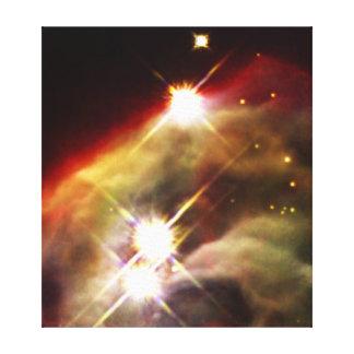 Nebulosa del cono impresión en lona estirada