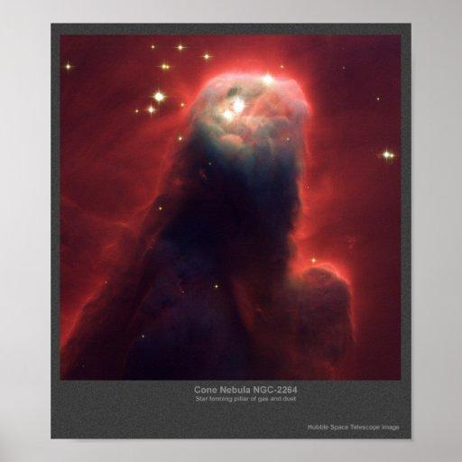 Nebulosa del cono NGC-2264 Póster