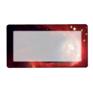 Nebulosa del cono telescopio de Hubble Etiquetas De Envío