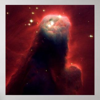 Nebulosa del cono (telescopio de Hubble) Póster