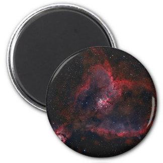 Nebulosa del corazón imán redondo 5 cm