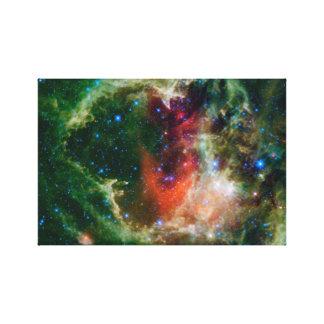 Nebulosa del corazón y del alma impresión en lona estirada