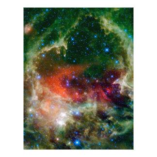 Nebulosa del corazón y del alma plantillas de membrete