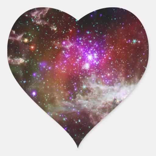Nebulosa del cúmulo de estrellas NGC 281 Pacman Pegatina En Forma De Corazón