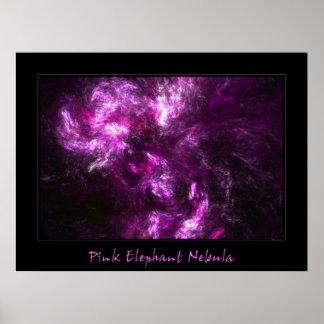 Nebulosa del elefante rosado póster