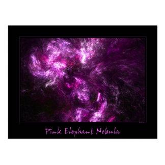 Nebulosa del elefante rosado tarjetas postales