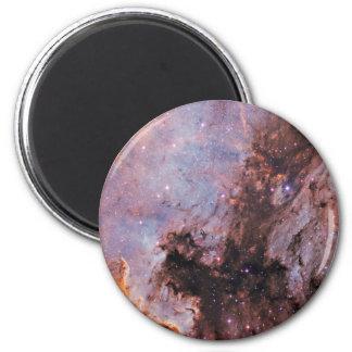 Nebulosa del espacio imán redondo 5 cm