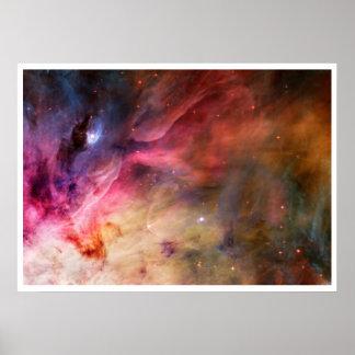 Nebulosa del espacio póster