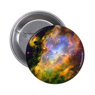 Nebulosa del espacio profundo pin redondo de 2 pulgadas