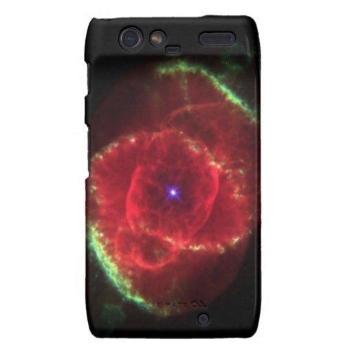 Nebulosa del ojo de gato droid RAZR carcasas