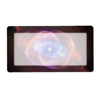 Nebulosa del ojo de gato etiqueta de envío