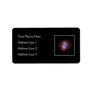 Nebulosa del ojo de gato etiquetas de dirección