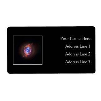 Nebulosa del ojo de gato etiquetas de envío
