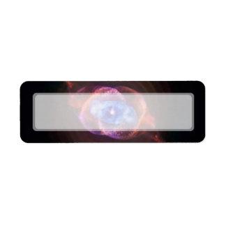 Nebulosa del ojo de gato etiquetas de remite