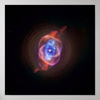 Nebulosa del ojo de gato - Hubble/Chandra Póster