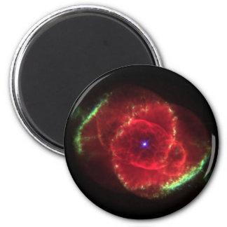 Nebulosa del ojo de gato imán redondo 5 cm